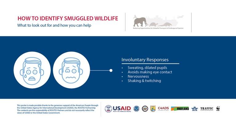 How to Identify a Wildlife Trafficker: Involuntary Responses - Horizontal